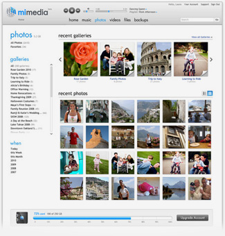 Online Backup & Sharing Photos